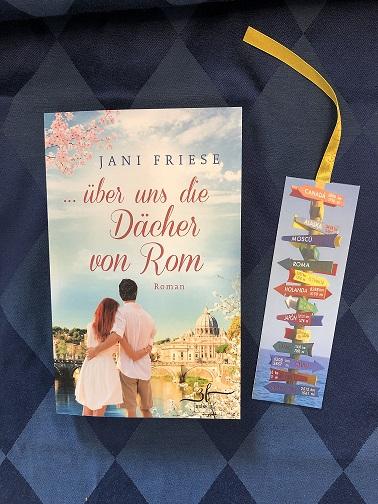 Buchcover …über uns die Dächer von Rom von Jani Friese